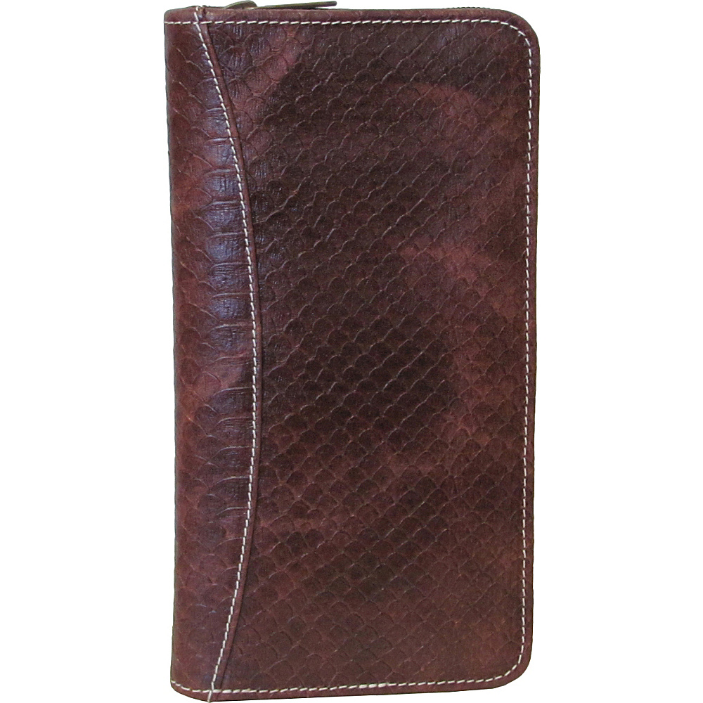 AmeriLeather Leather Document Case Brown Lizard - AmeriLeather Travel Wallets - Travel Accessories, Travel Wallets