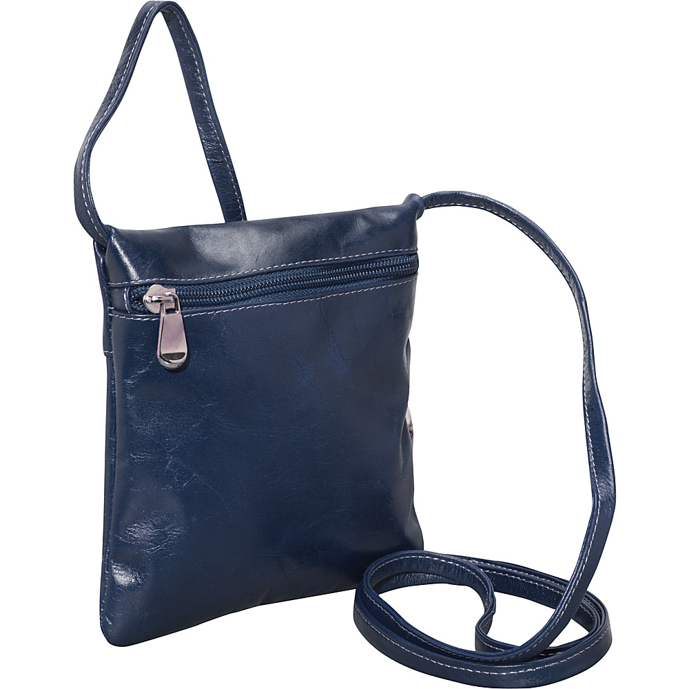 David King & Co. Florentine Top Zip Mini Bag Blue - David King & Co. Leather Handbags - Handbags, Leather Handbags