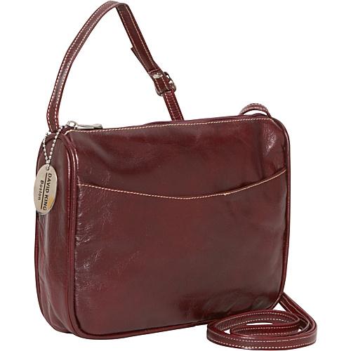 David King & Co. Florentine Top Zip Open Front Pocket Cherry