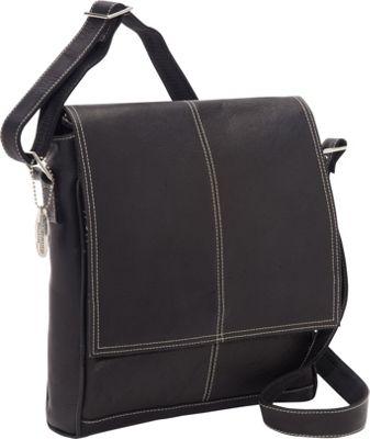 David King & Co. Deluxe Simple Medium Messenger Black - David King & Co. Other Men's Bags