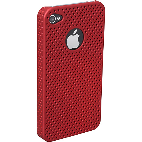 Sumdex Stylized Rubber Tech Apple iPhone 4 Case - Red