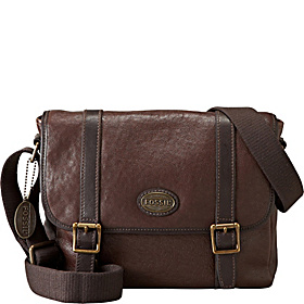 Leather Estate E/W City Bag Dark Brown