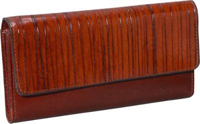 Jack Georges Monserrate Collection Clutch Wallet Cognac - Jack Georges Women's Wallets