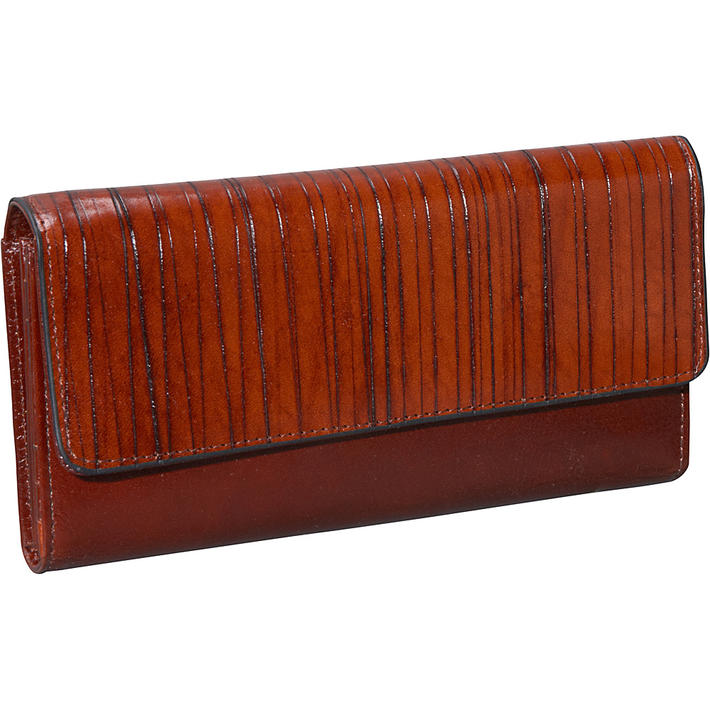 Jack Georges Monserrate Collection Clutch Wallet Cognac - Jack Georges Ladies Small Wallets