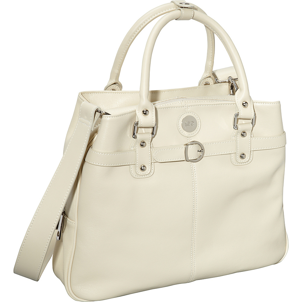 Jill e Designs E GO Leather Career Bag Vanilla Jill e Designs Women s Business Bags