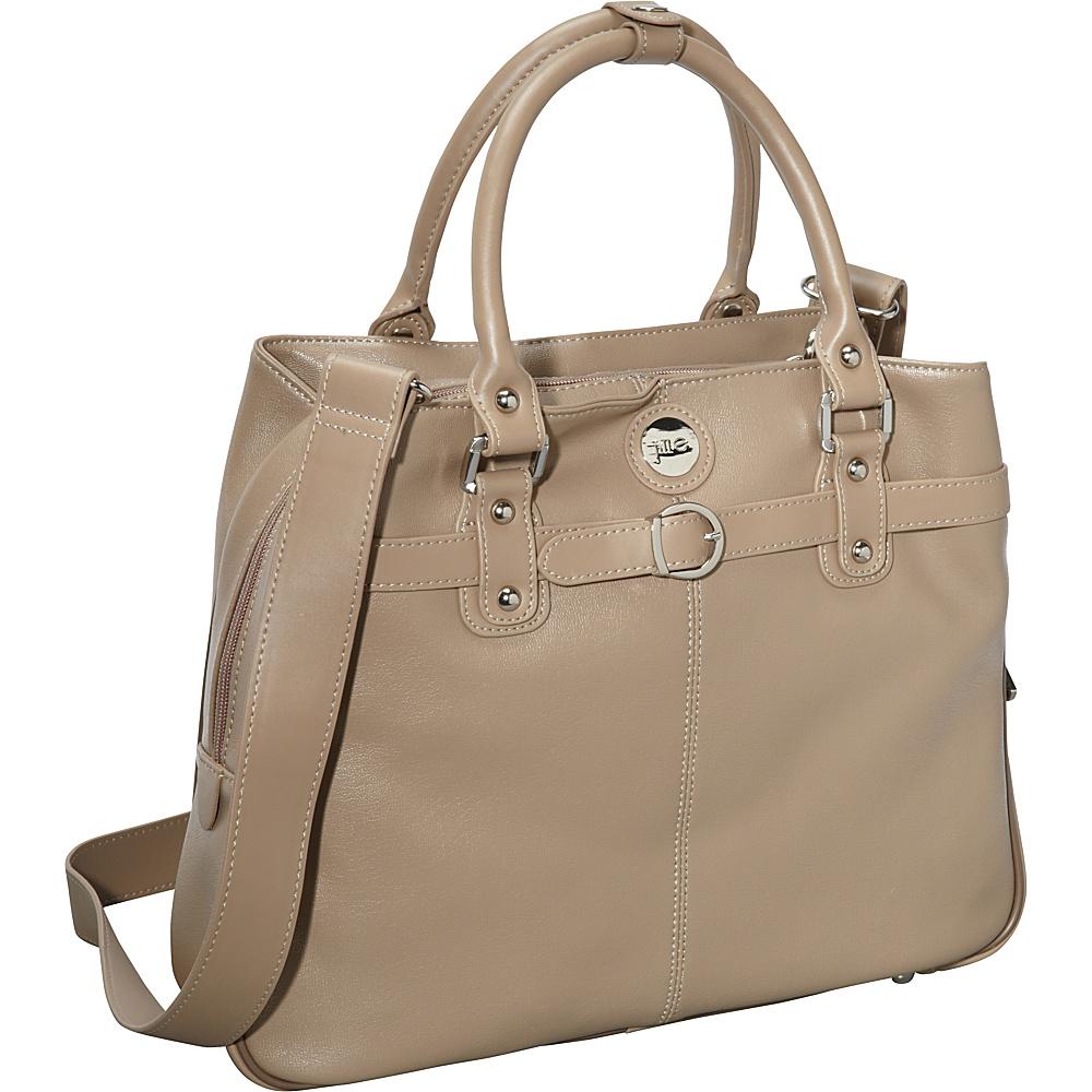 Jill e Designs E GO Leather Career Bag Starfish Taupe Jill e Designs Women s Business Bags