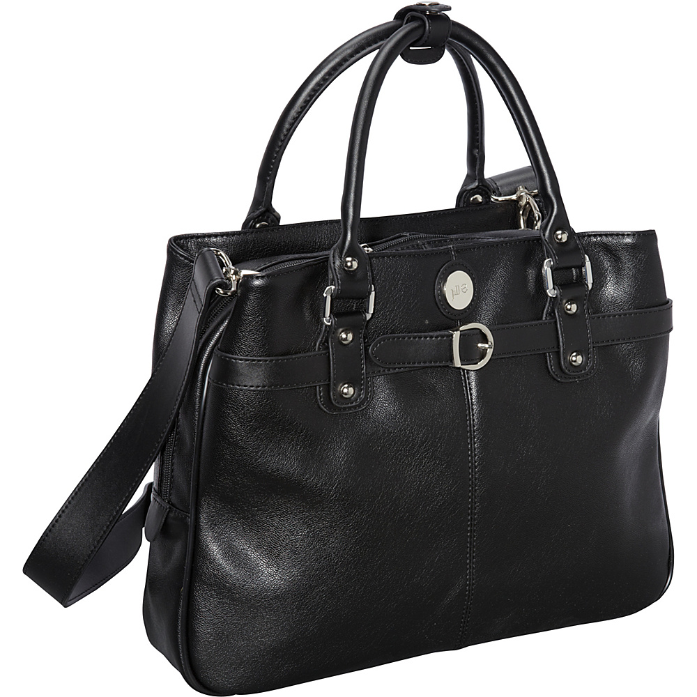 Jill e Designs E GO Leather Career Bag Black Jill e Designs Women s Business Bags