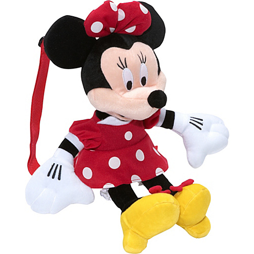 Disney Minnie Mouse Plush Backpack Black - Disney Kids' Backpacks