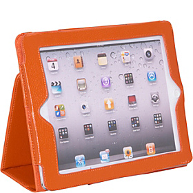 Apple iPad 2 & the New iPad Generation Leatherette Stand Folio Orange