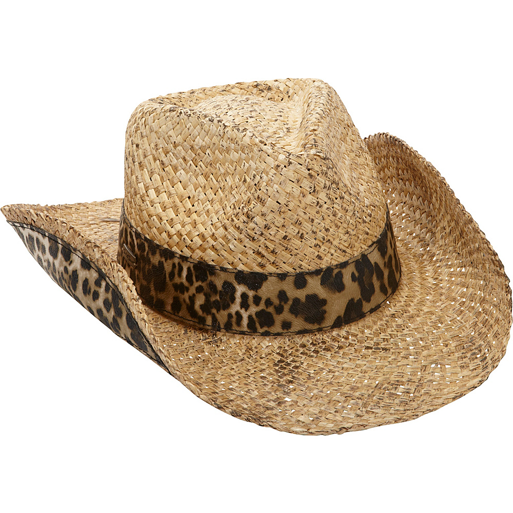 Sun N Sand Montana Western Hat One Size - Natural - Sun N Sand Hats/Gloves/Scarves - Fashion Accessories, Hats/Gloves/Scarves