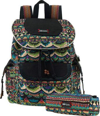 Sakroots Artist Circle Flap Backpack Radiant One World - Sakroots Everyday Backpacks