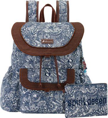 Sakroots Artist Circle Flap Backpack Navy Spirit Desert - Sakroots Everyday Backpacks