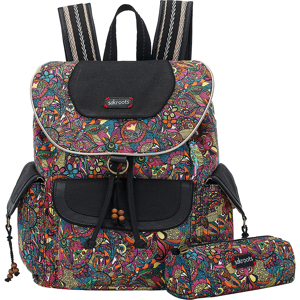Sakroots Artist Circle Flap Backpack Rainbow Spirit Desert - Sakroots Everyday Backpacks - Backpacks, Everyday Backpacks