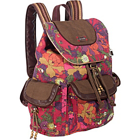 Artist Circle Backpack Scarlet Flower Power