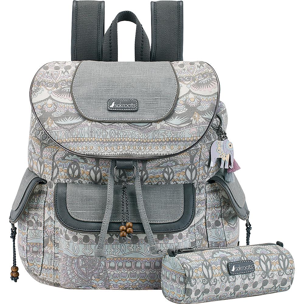 Sakroots Artist Circle Flap Backpack Pastel One World - Sakroots Everyday Backpacks - Backpacks, Everyday Backpacks
