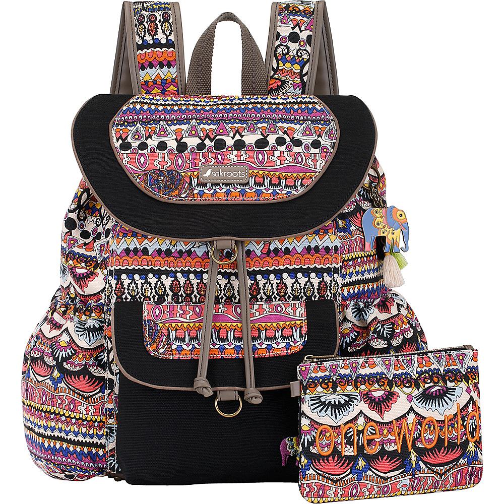 Sakroots Artist Circle Flap Backpack Camel One World - Sakroots Everyday Backpacks - Backpacks, Everyday Backpacks