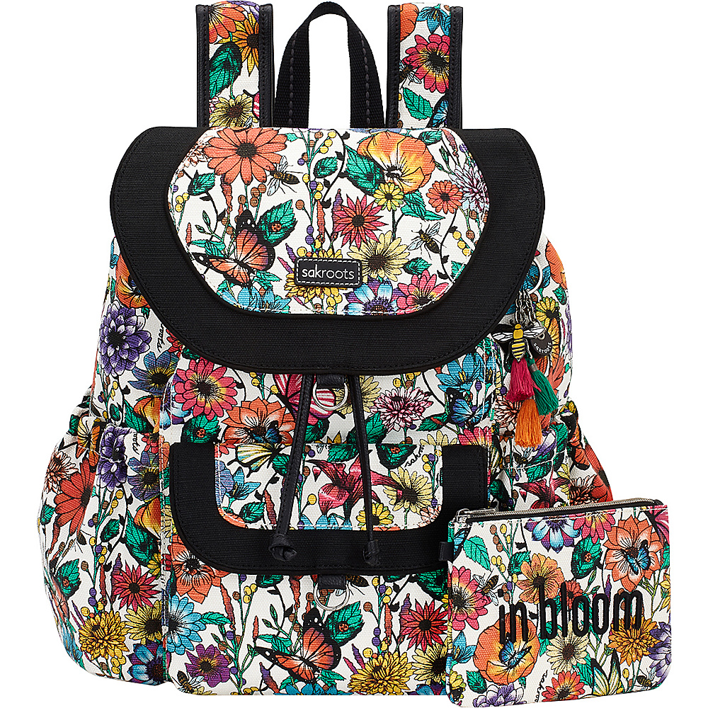 Sakroots Artist Circle Flap Backpack Optic In Bloom - Sakroots Everyday Backpacks - Backpacks, Everyday Backpacks