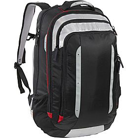 VizAir X-Large TSA Backpack Black/Silver Grey