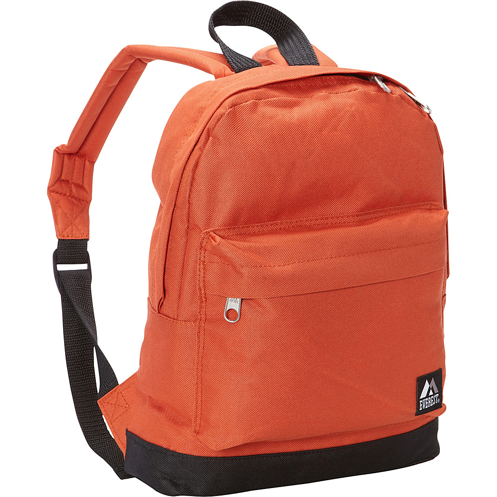Everest Junior Kids Backpack Rust Orange Black Everest Everyday Backpacks
