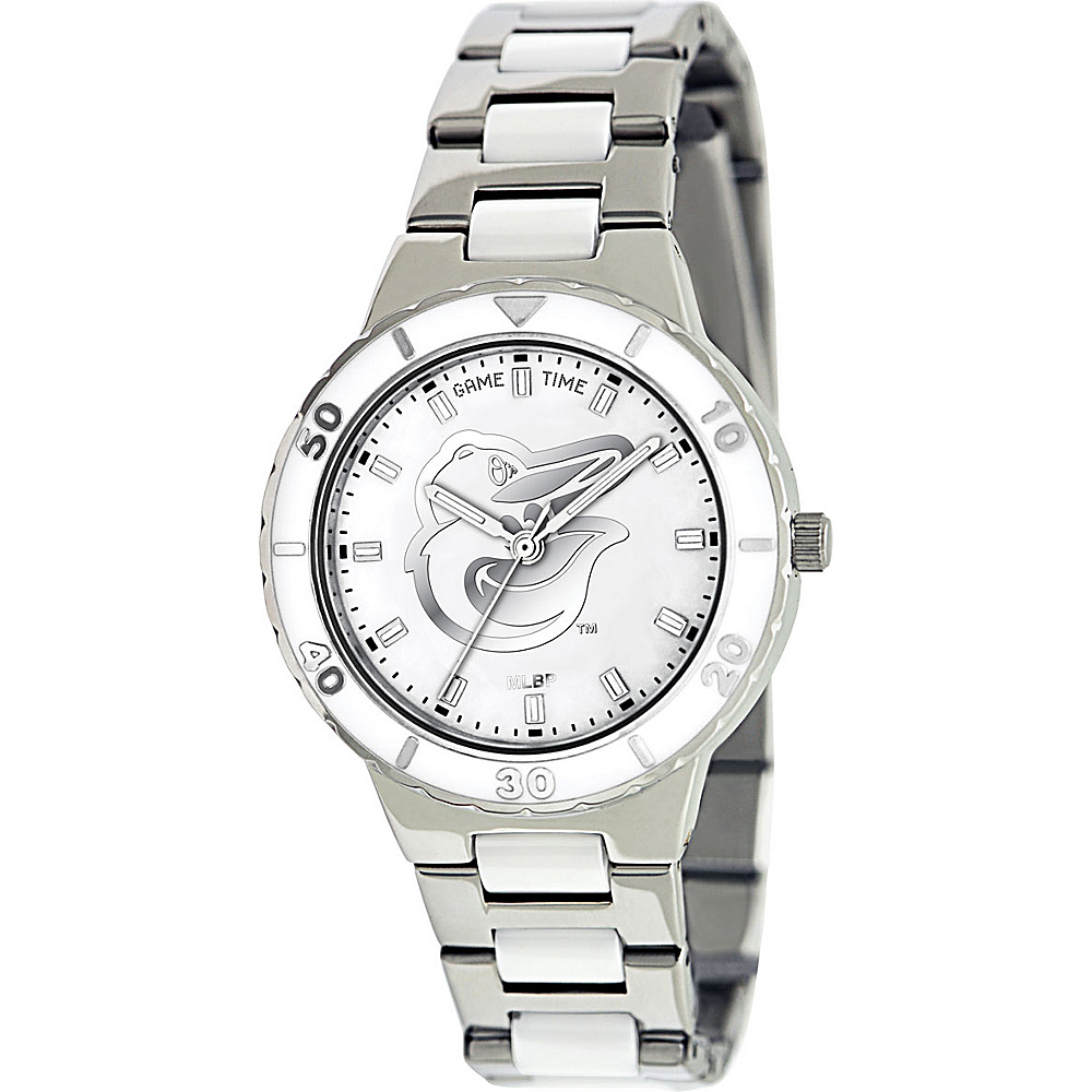 Game Time Pearl MLB Watch Baltimore Orioles Bird Logo - Game Time Watches - Fashion Accessories, Watches