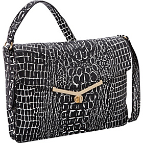 Valentina Shoulder Bag Black/White Croc