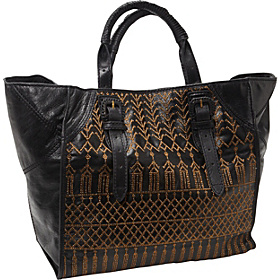 Hammered Metals Serena Tote Black