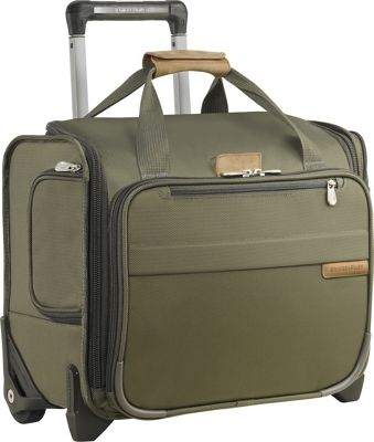 Briggs & Riley Briggs & Riley Baseline Rolling Cabin Bag Olive - Briggs & Riley Softside Carry-On