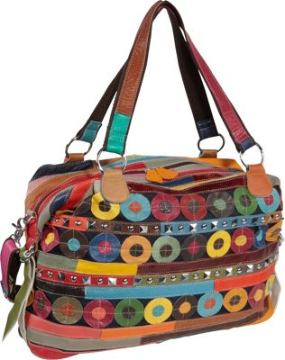 AmeriLeather Quincy Handbag Rainbow - AmeriLeather Leather Handbags