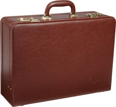 AmeriLeather Large Expandable Faux Leather Attach Case Toffee - AmeriLeather Non-Wheeled Business Cases