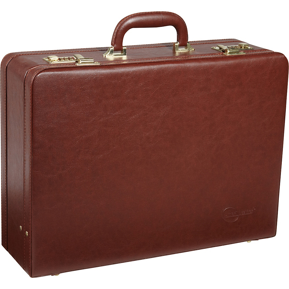 AmeriLeather Large Expandable Faux Leather Attach Case Toffee - AmeriLeather Non-Wheeled Business Cases - Work Bags & Briefcases, Non-Wheeled Business Cases