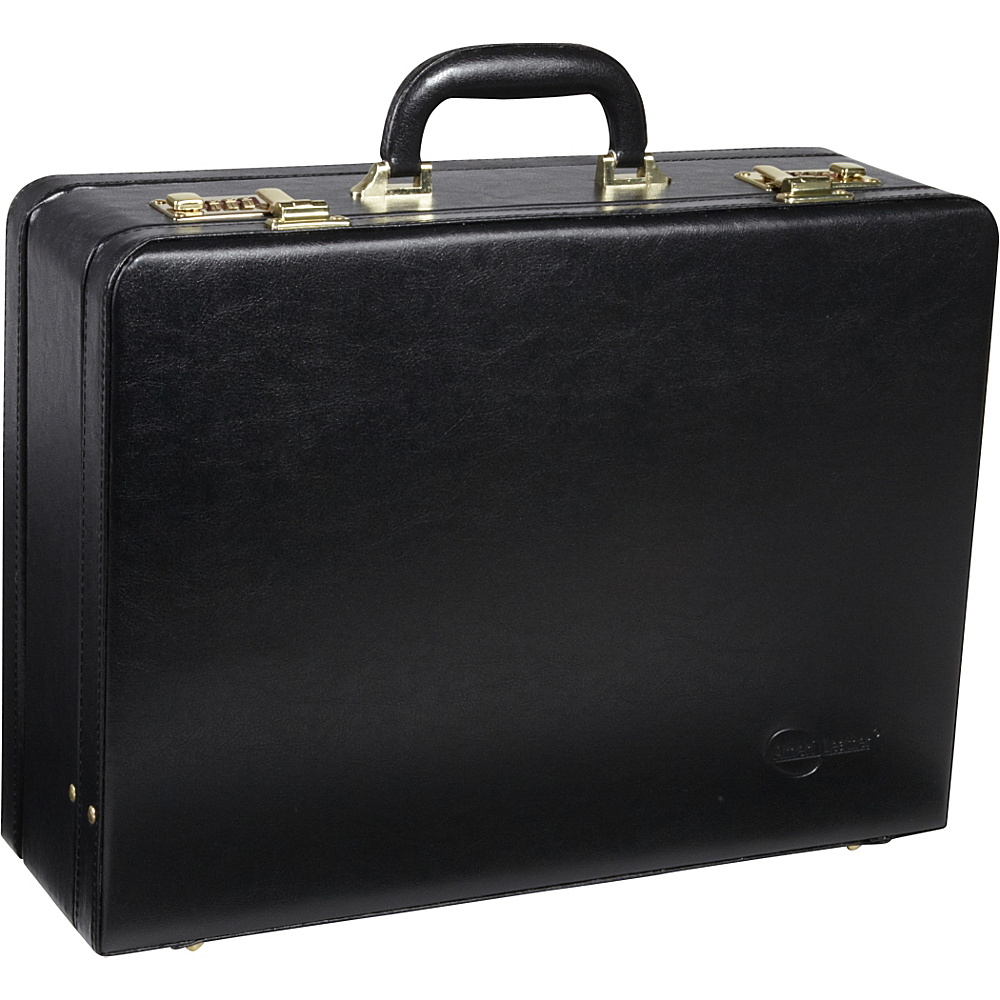 AmeriLeather Large Expandable Faux Leather Attach Case Black - AmeriLeather Non-Wheeled Business Cases - Work Bags & Briefcases, Non-Wheeled Business Cases