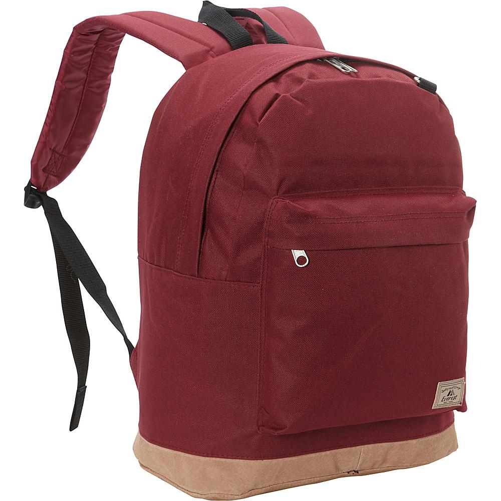Everest Suede Bottom Backpack Burgundy - Everest Everyday Backpacks - Backpacks, Everyday Backpacks