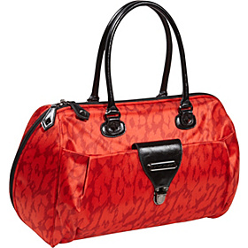 Glam Rock 18'' Weekender Bag Red Cheetah