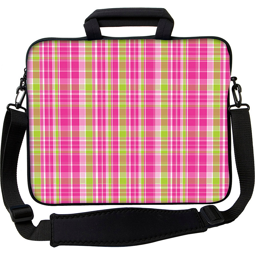 Designer Sleeves 15 Executive Laptop Sleeve by Got Skins? Designer Sleeves Pink Green Plaid Designer Sleeves Electronic Cases