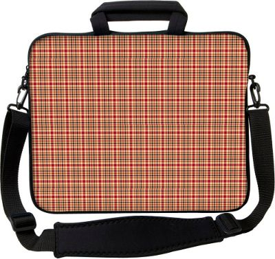 Designer Sleeves 15 inch Executive Laptop Sleeve by Got Skins? & Designer Sleeves Rusty Plaid - Designer Sleeves Electronic Cases