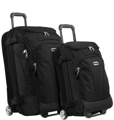 eBags Value Set: TLS Junior 25 inch + TLS Mini 21 inch Wheeled Duffels Solid Black - eBags Luggage Sets