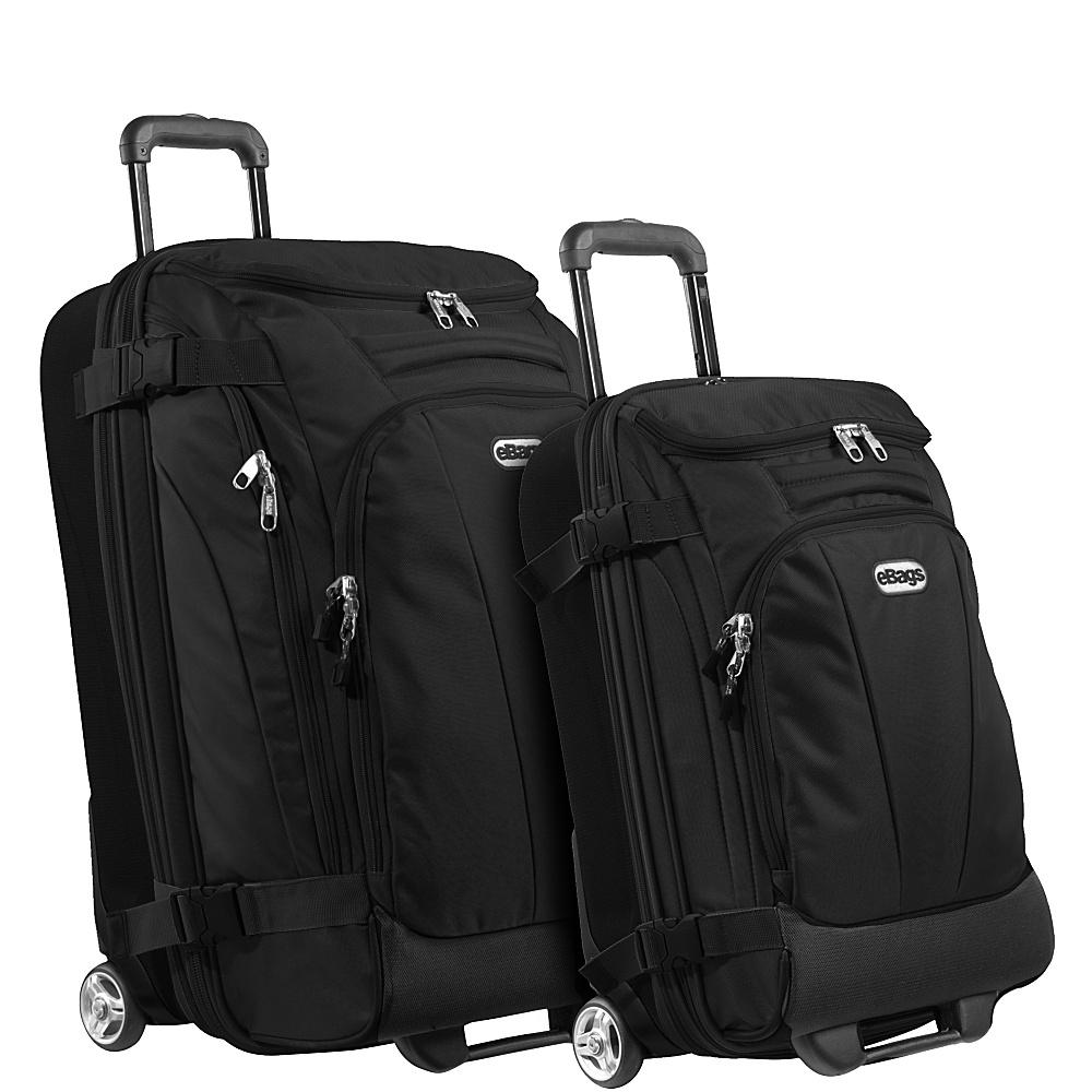 eBags Value Set: TLS Junior 25 + TLS Mini 21 Wheeled Duffels Solid Black - eBags Luggage Sets - Luggage, Luggage Sets