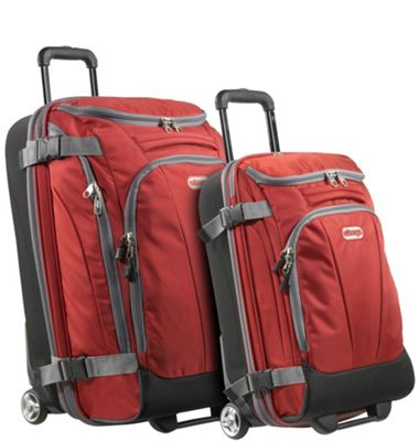 eBags Value Set: TLS Junior 25 inch + TLS Mini 21 inch Wheeled Duffels Sinful Red - eBags Luggage Sets