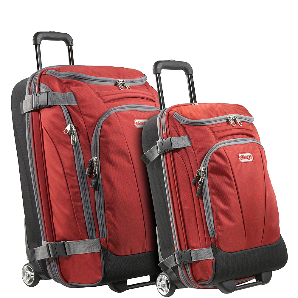 eBags Value Set: TLS Junior 25 + TLS Mini 21 Wheeled Duffels Sinful Red - eBags Luggage Sets - Luggage, Luggage Sets