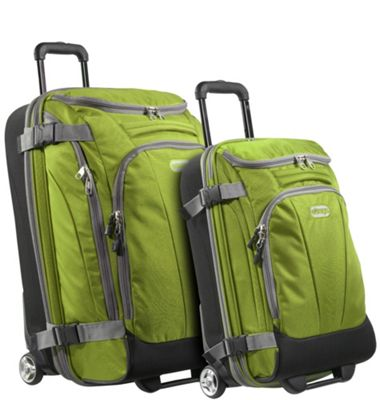 eBags Value Set: TLS Junior 25 inch + TLS Mini 21 inch Wheeled Duffels Green Envy - eBags Luggage Sets