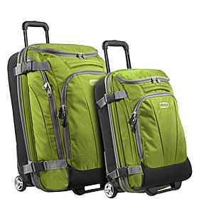 Value Set: TLS Junior 25'' + TLS Mini 21'' Wheeled Duffels Green Envy