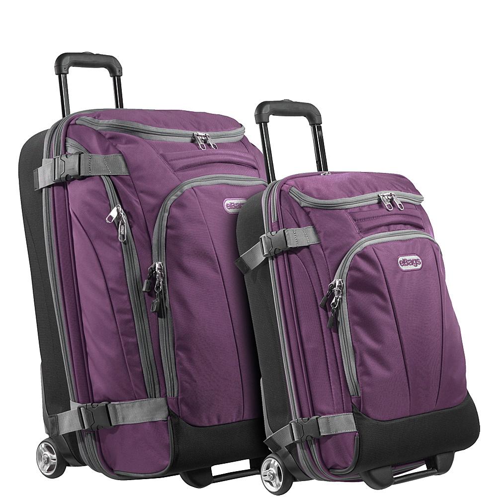 eBags Value Set: TLS Junior 25 + TLS Mini 21 Wheeled Duffels Eggplant - eBags Luggage Sets - Luggage, Luggage Sets