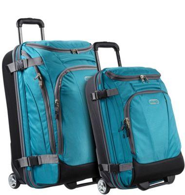 eBags Value Set: TLS Junior 25 inch + TLS Mini 21 inch Wheeled Duffels Tropical Turquoise - eBags Luggage Sets