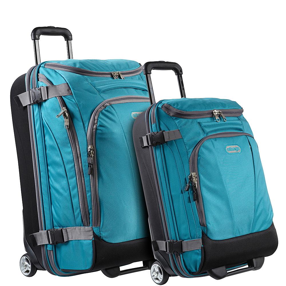 eBags Value Set: TLS Junior 25 + TLS Mini 21 Wheeled Duffels Tropical Turquoise - eBags Luggage Sets - Luggage, Luggage Sets