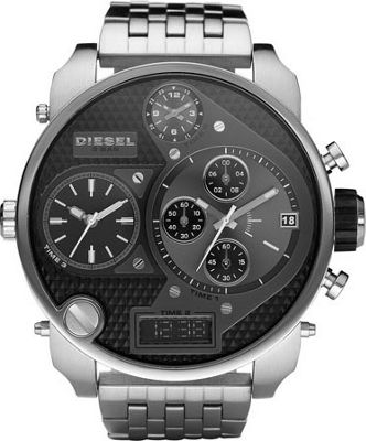 Diesel Watches Mr. Daddy Silver with Black Dial - Diesel Watches Watches