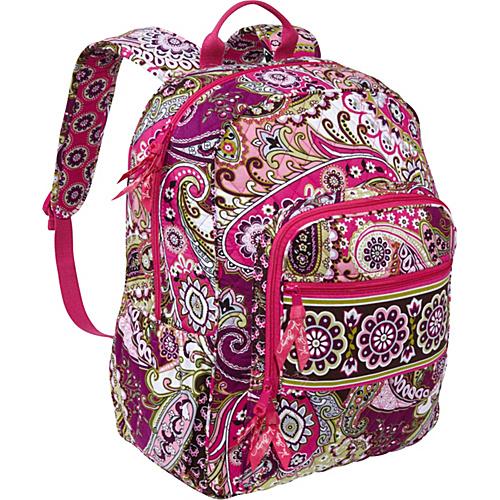 Vera Bradley Campus Backpack Very Berry Paisley School Day Hiking Backpacks