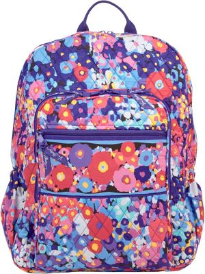 Vera Bradley Campus Backpack Impressionista - Vera Bradley School & Day Hiking Backpacks