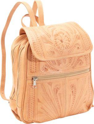 Ropin West Backpack Handbag Natural - Ropin West Leather Handbags