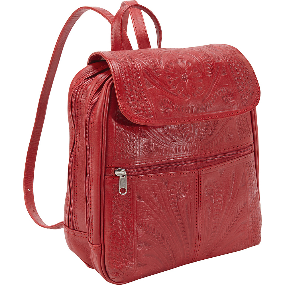Ropin West Backpack Handbag Red Ropin West Leather Handbags