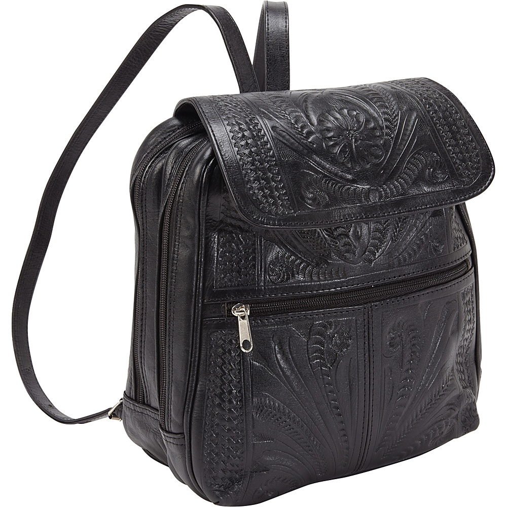 Ropin West Backpack Handbag Black Ropin West Leather Handbags